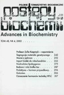 Postępy biochemii, Tom 48, Nr 4
