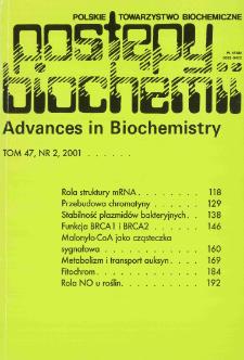 Postępy biochemii, Tom 47, Nr 2