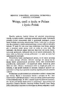 Wstęp, czyli o życiu w Polsce i życiu Polski