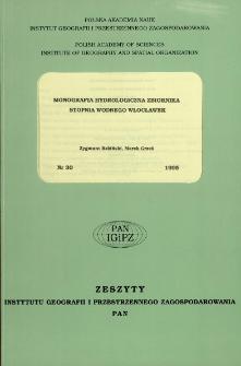 Monografia hydrologiczna zbiornika stopnia wodnego Włocławek = Hydrological monograph of Włocławek reservoir