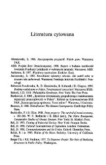 Jak żyją Polacy. Literatura