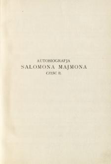 Autobiografia Salomona Majmona. Cz. 2