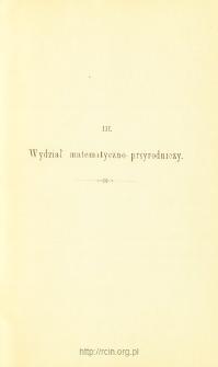 Sprawozdania z Posiedzeń, Wydział matematyczo-przyrodniczy. Rok 1895