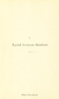 Sprawozdania z Posiedzeń, Wydział historyczno-filozoficzny. Rok 1895