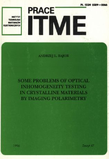 Some problems of optical inhomogeneity testing in crystalline materials by imaging polarimetry