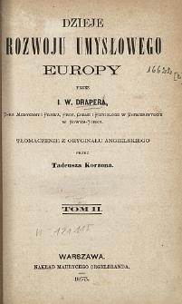 Dzieje rozwoju umysłowego Europy. T. 2