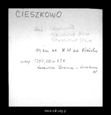Cieszkowo. Files of Plonsk district in the Middle Ages. Files of Historico-Geographical Dictionary of Masovia in the Middle Ages