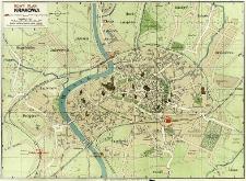 Nowy plan Krakowa opracowany patentową metodą Pharusa z przewodnikiem informacyjnym po mieście