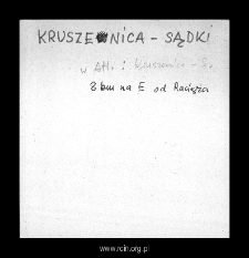 Kruszenica-Sądki. Files of Plonsk district in the Middle Ages. Files of Historico-Geographical Dictionary of Masovia in the Middle Ages
