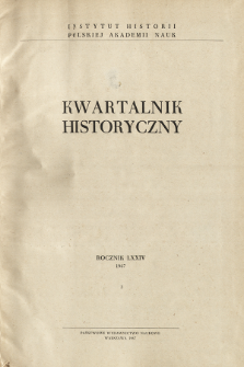 Kwartalnik Historyczny R. 74 nr 3 (1967), Title pages, Contents