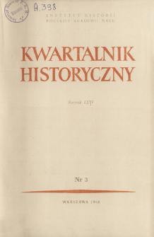 Kwartalnik Historyczny R. 75 nr 3 (1968),Title pages, Contents
