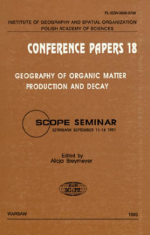 Geography of organic matter production and decay : SCOPE Seminar, Szymbark, September 11-18 1991