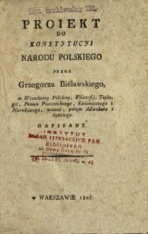 Proiekt do Konstytucyi narodu polskiego