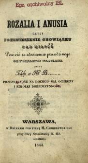Rozalia i Anusia czyli Przeniesienie obowiązku nad miłość : powieść ze zdarzenia prawdziwego oryginalnie napisana
