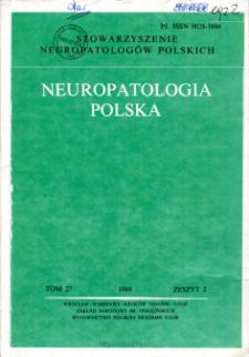 Neuropatologia Polska T.27 z.2 (1989)