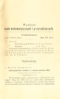 Sprawozdania z Posiedzeń Towarzystwa Naukowego Warszawskiego, Wydział III, Nauk Matematycznych i Przyrodniczych. Rok VII. No 3.