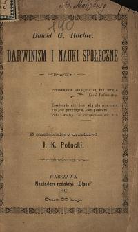 Darwinizm i nauki społeczne