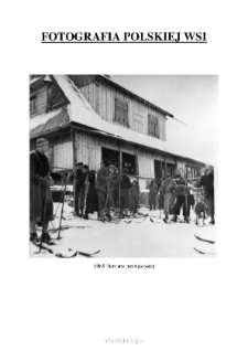 [Skiers in front of the inn] [An iconographic document]