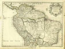 Carte De La Terre Ferme Du Perou, Du Bresil Et Du Pays Des Amazones