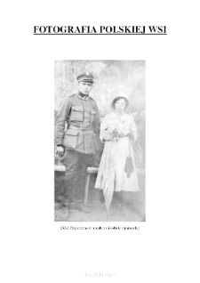 [A man in a uniform and a woman with an umbrella] [An iconographic document]