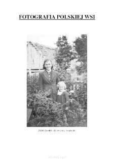 [A woman and a girl in the garden] [An iconographic document]