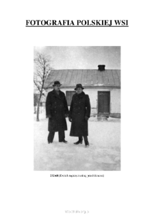 [Two men in front of the house in winter] [An iconographic document]