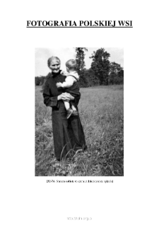 [An elderly woman in a black suit with a child in her arms] [An iconographic document]