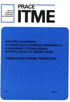 Termistorowy miernik temperatury