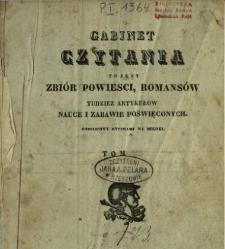 Gabinet Czytania to jest zbiór powieści, romansów tudzież artykułów nauce i zabawie poświęconych 1835[T.1-3]