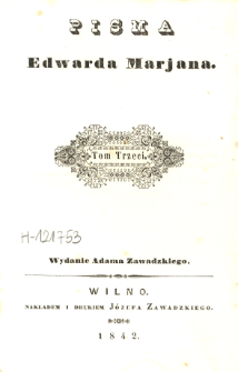 Pisma Edwarda Marjana. T. 3, Torquato Tasso : dramat we cztérech Częściach