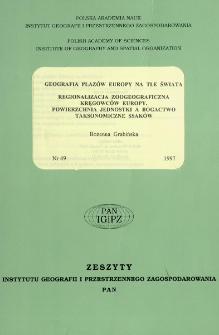 Geografia płazów Europy na tle świata ; Regionalizacja zoogeograficzna kręgowców Europy : powierzchnia jednostki a bogactwo taksonomiczne ssaków