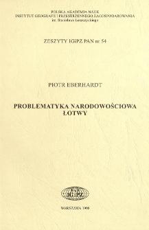 Problematyka narodowościowa Łotwy
