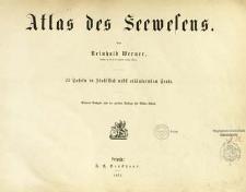 Atlas des Seewesens : 25 Tafeln in Stahlstich nebst erläuternden Texte