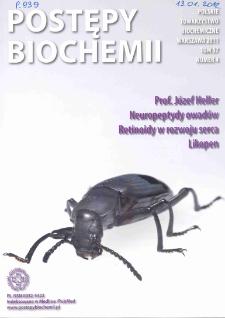 Postępy biochemii, Tom 57, Nr 4