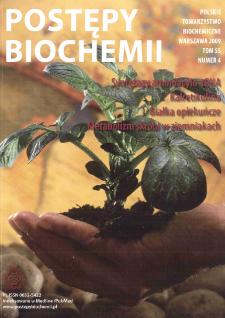 Postępy biochemii, Tom 55, Nr 4