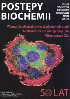 Postępy biochemii, Tom 54, Nr 1
