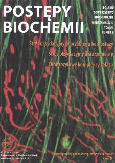 Postępy biochemii, Tom 56, Nr 3