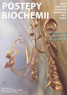 Postępy biochemii, Tom 55, Nr 3