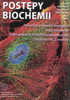 Postępy biochemii, Tom 57, Nr 3