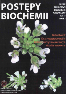 Postępy biochemii, Tom 53, Nr 2