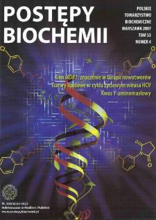 Postępy biochemii, Tom 53, Nr 4
