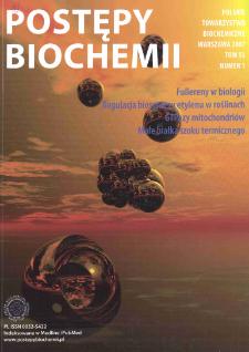 Postępy biochemii, Tom 53, Nr 1