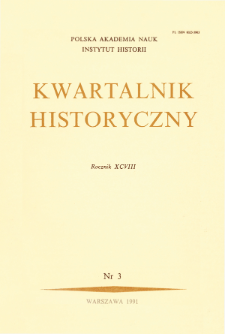 Kwartalnik Historyczny. R. 98 nr 3 (1991), Title pages, Contents