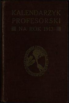 Kalendarzyk Profesorski na Rok 1913