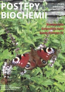 Postępy biochemii, Tom 58, Nr 1