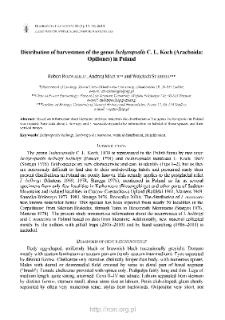 Distribution of harvestmen of the genus Ischyropsalis C. L. Koch (Arachnida: Opiliones) in Poland