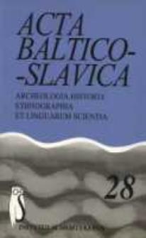 Acta Baltico-Slavica T. 28 (2004)