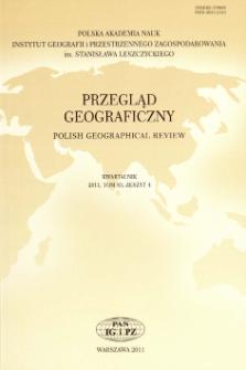 Przegląd Geograficzny T. 83 z. 4 (2011), Spis treści