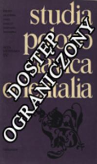 Studia Polono-Slavica Orientalia. Acta Litteraria. [T.] 4 (1977)