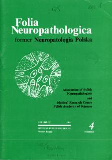Folia Neuropathologica : former Neuropatologia Polska Vol.32 (1994) nr 4